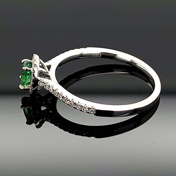 Tsavorite Garnet And Diamond Ladies Ring Image 2 Geralds Jewelry Oak Harbor, WA