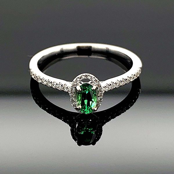 Tsavorite Garnet And Diamond Ladies Ring Geralds Jewelry Oak Harbor, WA