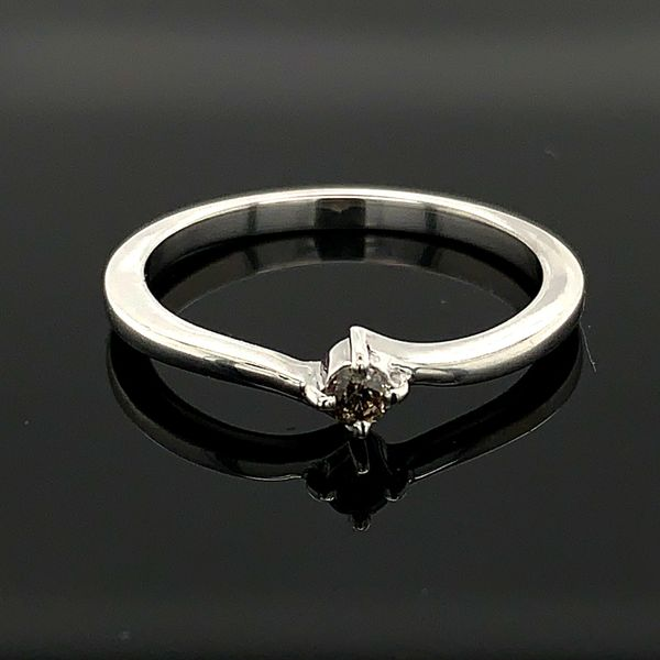 Ladies Sterling Silver And Champagne Diamond Promise Ring Gerald's Jewelry Oak Harbor, WA