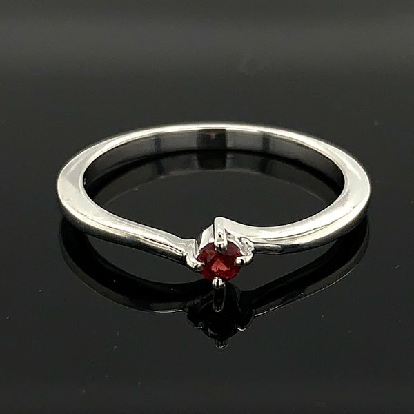 Ladies Sterling Silver And Fire Ruby Promise Ring Geralds Jewelry Oak Harbor, WA