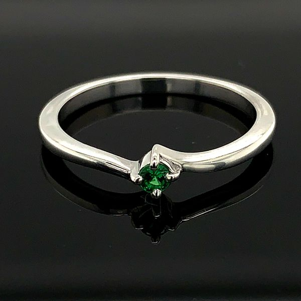 Ladies Sterling Silver And Tsavorite Promise Ring Gerald's Jewelry Oak Harbor, WA