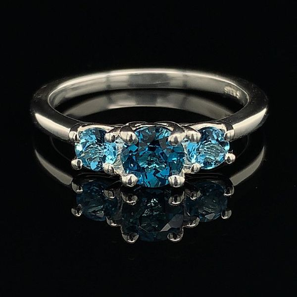 3 Stone Blue Topaz Ring Geralds Jewelry Oak Harbor, WA