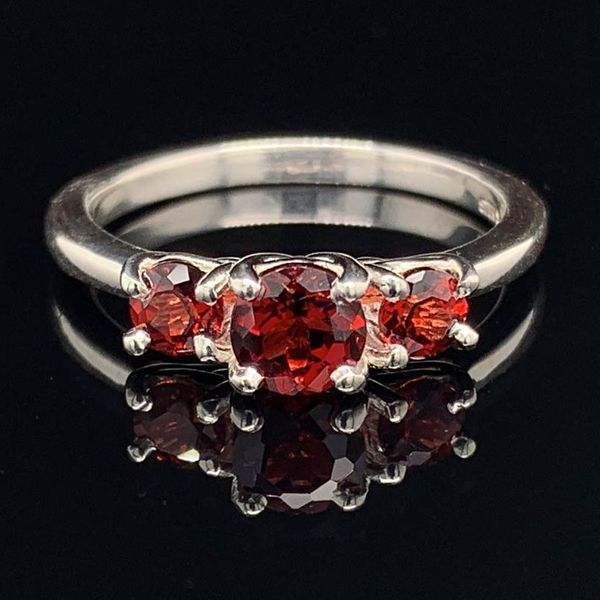 3 Stone Garnet Ring in Sterling Silver Gerald's Jewelry Oak Harbor, WA