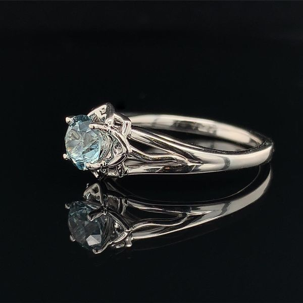1.01ct Montana Sapphire Floral Style Solitaire Ring Image 2 Geralds Jewelry Oak Harbor, WA