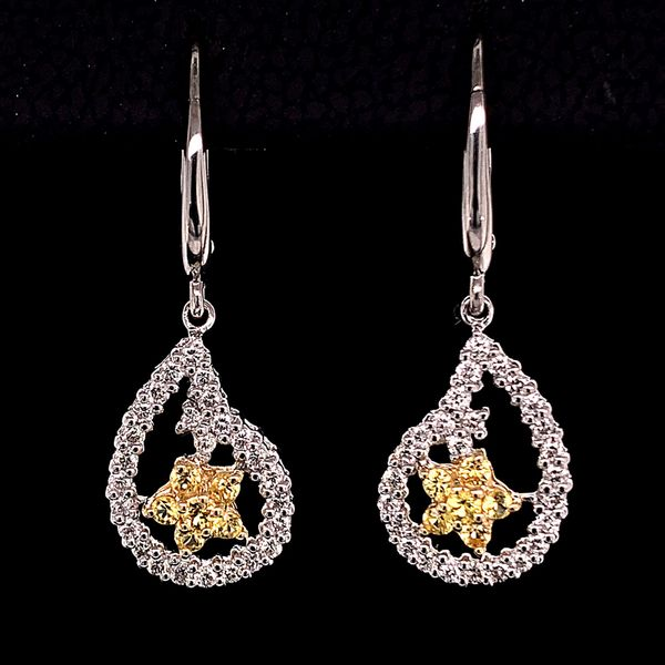 Alisa Unger Designs Yellow Sapphire and Diamond Earrings Gerald's Jewelry Oak Harbor, WA