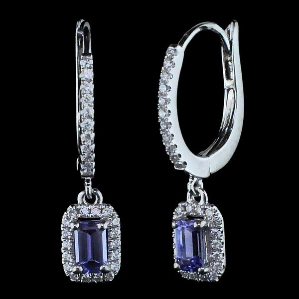 Ladies Tanzanite and Diamond Earrings Gerald's Jewelry Oak Harbor, WA