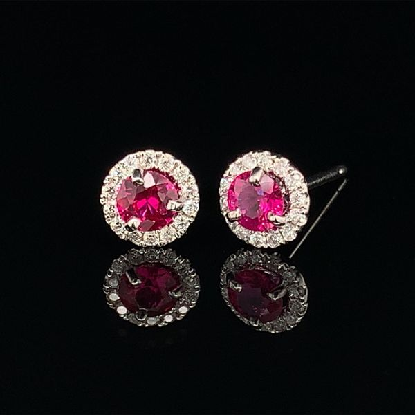 Ruby and Diamond Earrings Gerald's Jewelry Oak Harbor, WA