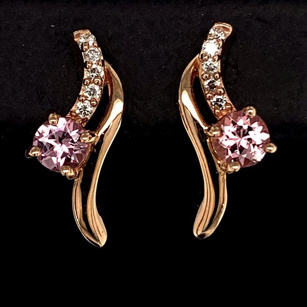 Lotus Garnet and Diamond Earrings Gerald's Jewelry Oak Harbor, WA