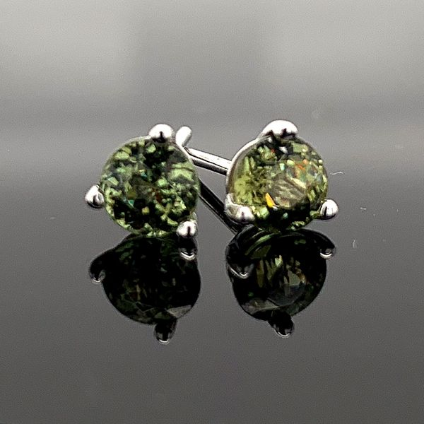 1.08Ct Demantoid Garnet Stud Earrings Gerald's Jewelry Oak Harbor, WA