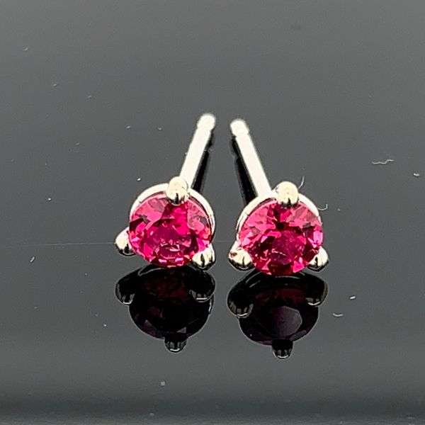 Natural Red Spinel Stud Earrings Gerald's Jewelry Oak Harbor, WA