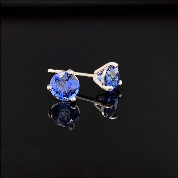 1.49ctw Light Ceylon Blue Sapphire Earrings Image 2 Gerald's Jewelry Oak Harbor, WA