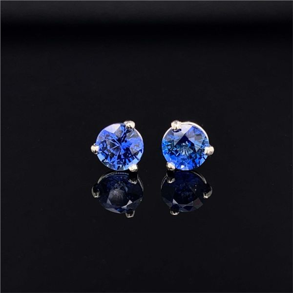 1.49ctw Light Ceylon Blue Sapphire Earrings Gerald's Jewelry Oak Harbor, WA