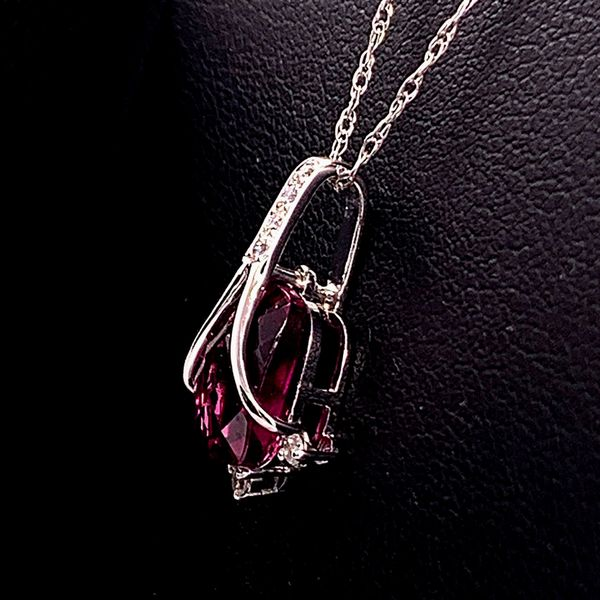 Rhodolite Garnet and Diamond Pendant Image 2 Gerald's Jewelry Oak Harbor, WA