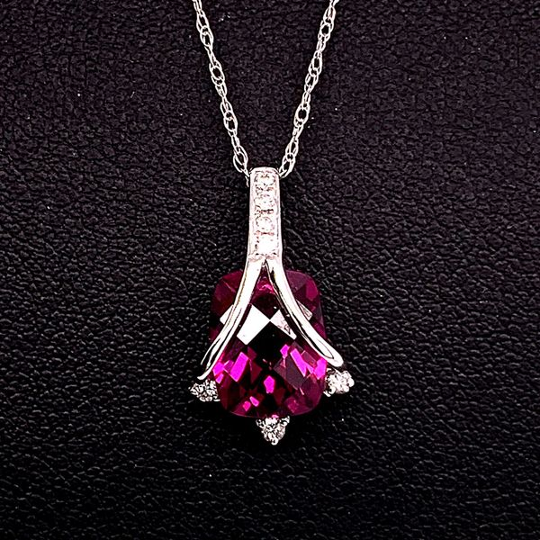 Rhodolite Garnet and Diamond Pendant Gerald's Jewelry Oak Harbor, WA
