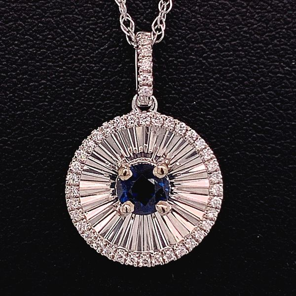 Sapphire And Diamond Pendant Gerald's Jewelry Oak Harbor, WA