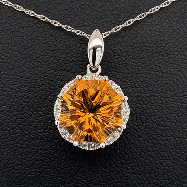 Citrine and Diamond Pendant Gerald's Jewelry Oak Harbor, WA