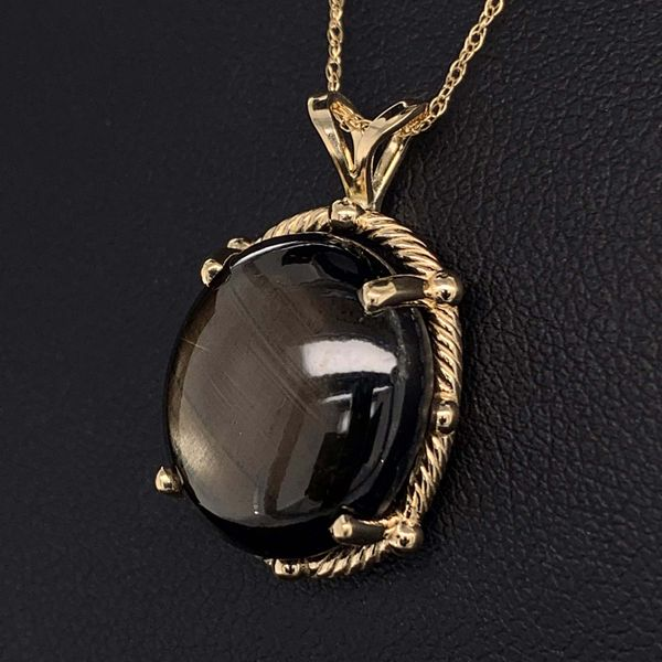 18.93Ct Black Star Sapphire Pendant Image 2 Geralds Jewelry Oak Harbor, WA