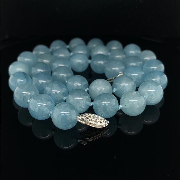 Aquamarine Bead Necklace Strand Geralds Jewelry Oak Harbor, WA