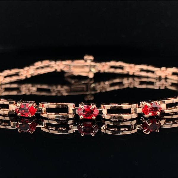 Custom Fire Ruby and Rose Gold Bracelet, 1.63ct Total Weight Image 2 Geralds Jewelry Oak Harbor, WA