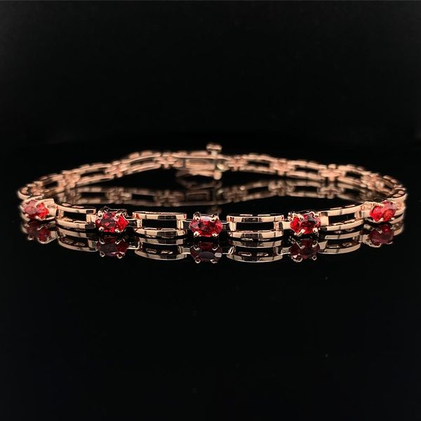 Custom Fire Ruby and Rose Gold Bracelet, 1.63ct Total Weight Geralds Jewelry Oak Harbor, WA