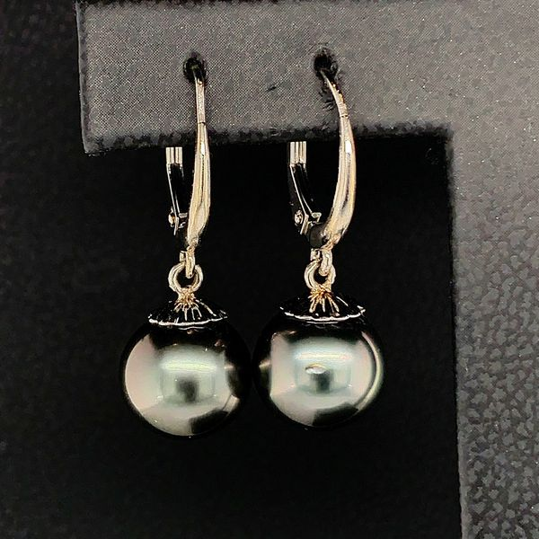 Tahitian Leverback Pearl Earrings Image 2 Gerald's Jewelry Oak Harbor, WA