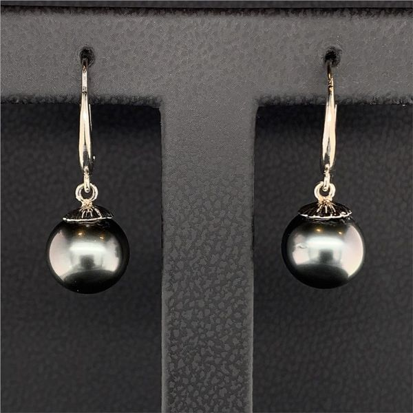 Tahitian Leverback Pearl Earrings Gerald's Jewelry Oak Harbor, WA