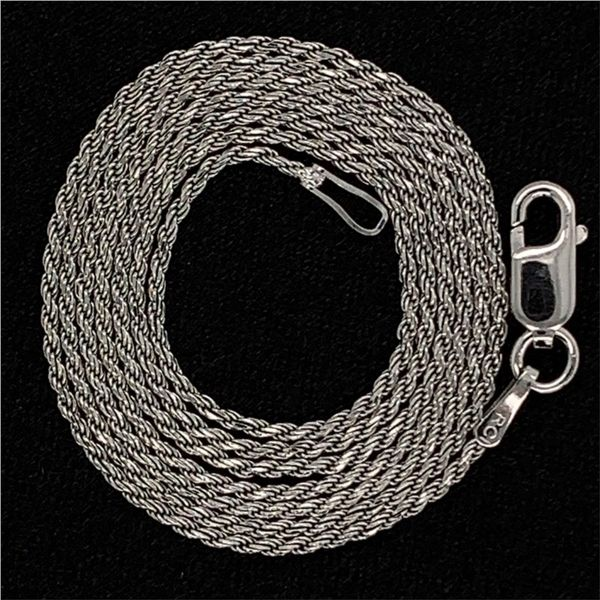Diamond Cut Rope Chain, Sterling Silver, 20 Inch Gerald's Jewelry Oak Harbor, WA