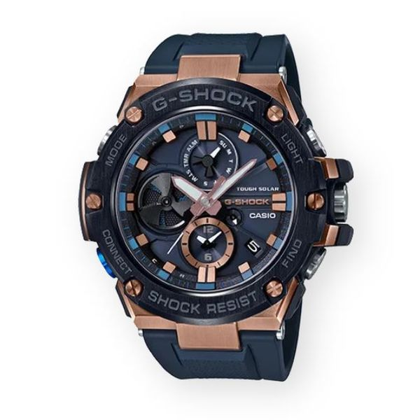 G-Shock, G-Steel Watch with Rose Accents Gerald's Jewelry Oak Harbor, WA
