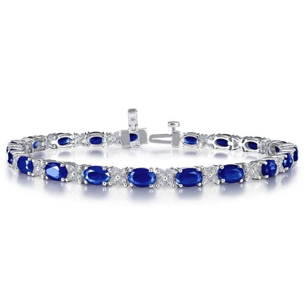 Lafonn Lab Grown Sapphires and Lassaire Bracelet Gerald's Jewelry Oak Harbor, WA
