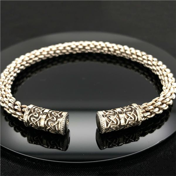 Keith Jack Celtic Flexible Dragon Weave Bangle Gerald's Jewelry Oak Harbor, WA