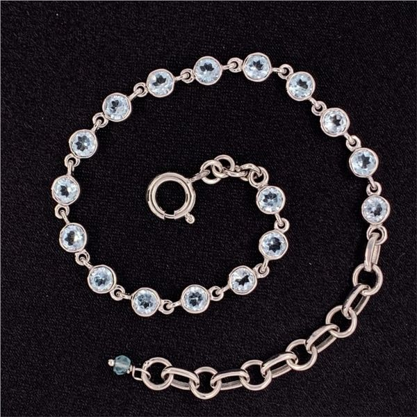 4MM Round Blue Topaz Bracelet Gerald's Jewelry Oak Harbor, WA