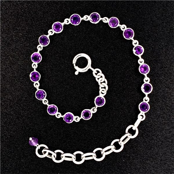 4MM Round Amethyst Bracelet Gerald's Jewelry Oak Harbor, WA