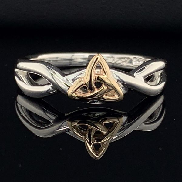 Keith Jack Celtic, Trinity Knot Ring, 10K And Sterling Silver Gerald's Jewelry Oak Harbor, WA