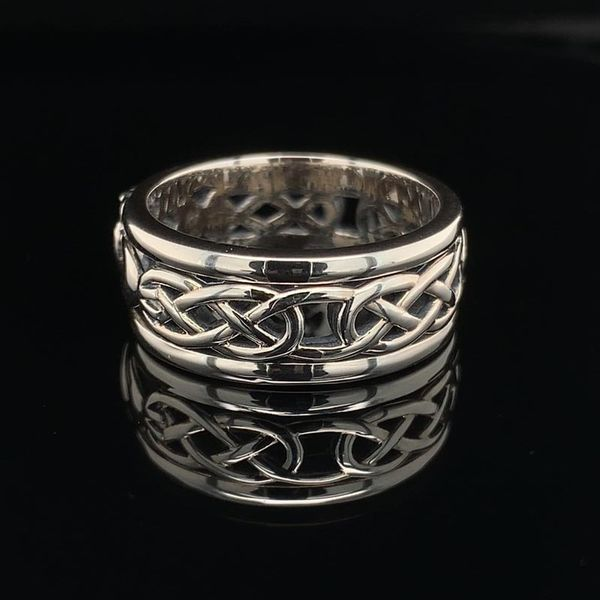 Keith Jack Celtic Sterling Silver Claddagh Band Image 2 Geralds Jewelry Oak Harbor, WA