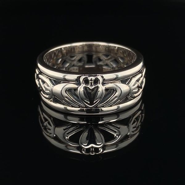 Keith Jack Celtic Sterling Silver Claddagh Band Geralds Jewelry Oak Harbor, WA