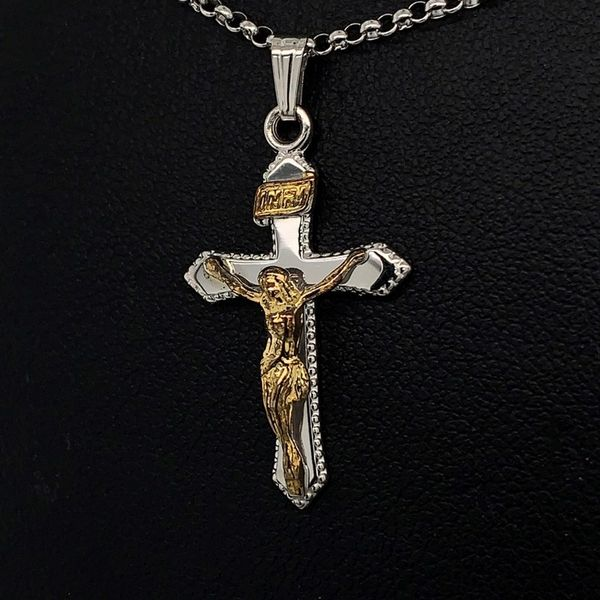 Tu-Tone Crucifix Pendant Gerald's Jewelry Oak Harbor, WA