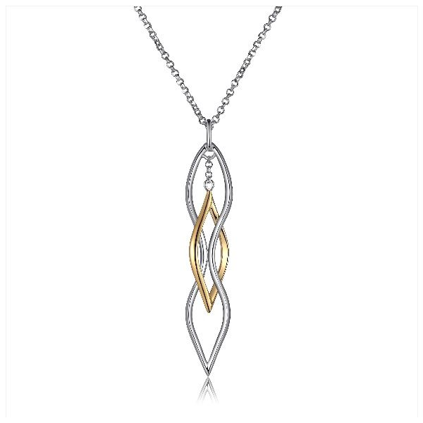 ELLE Tu-Tone Wave Necklace Geralds Jewelry Oak Harbor, WA