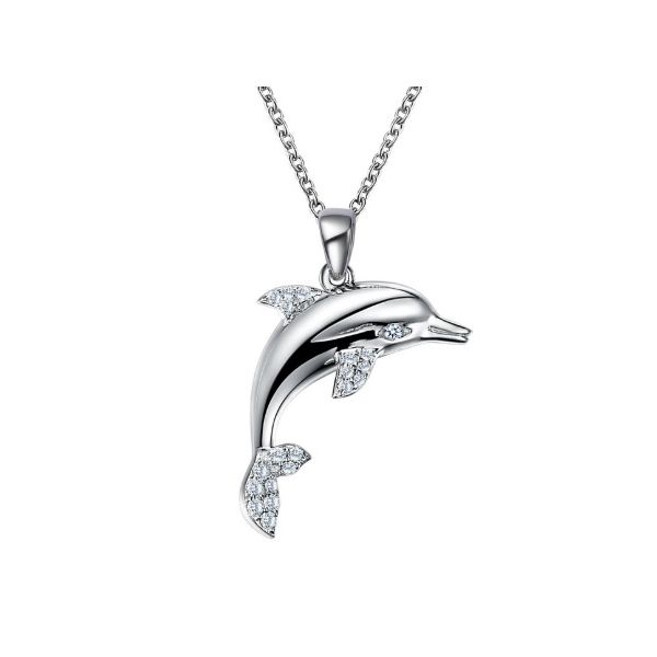Lafonn Leaping Dolphin Necklace Gerald's Jewelry Oak Harbor, WA
