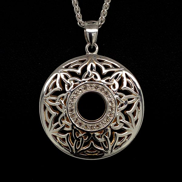 Keith Jack Celtic Window To The Soul Pendant With White Topaz Gerald's Jewelry Oak Harbor, WA