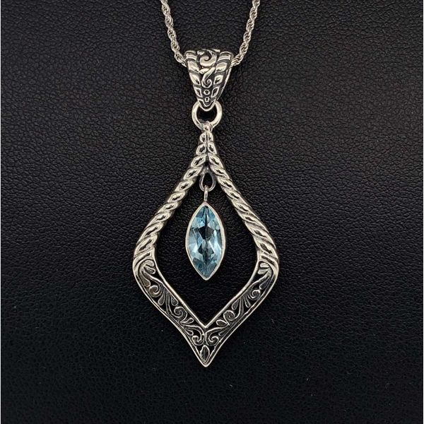 Blue Topaz and Sterling Silver Pendant Geralds Jewelry Oak Harbor, WA