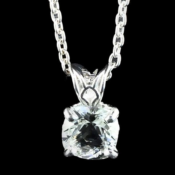 Silver Cushion Cut Sky Blue Topaz Pendant Gerald's Jewelry Oak Harbor, WA