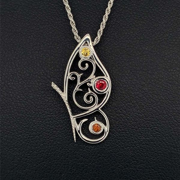 Custom Sterling Silver Butterfly Pendant Geralds Jewelry Oak Harbor, WA