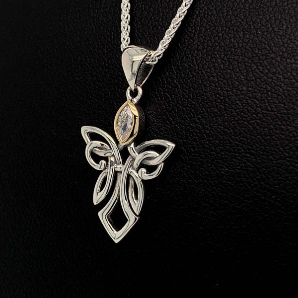 Keith Jack Celtic Angel And Cubic Zirconia Pendant Image 2 Geralds Jewelry Oak Harbor, WA