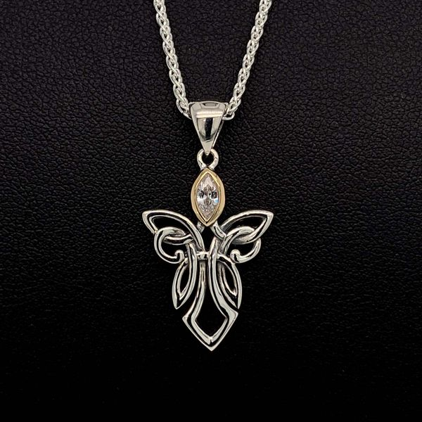 Keith Jack Celtic Angel And Cubic Zirconia Pendant Geralds Jewelry Oak Harbor, WA