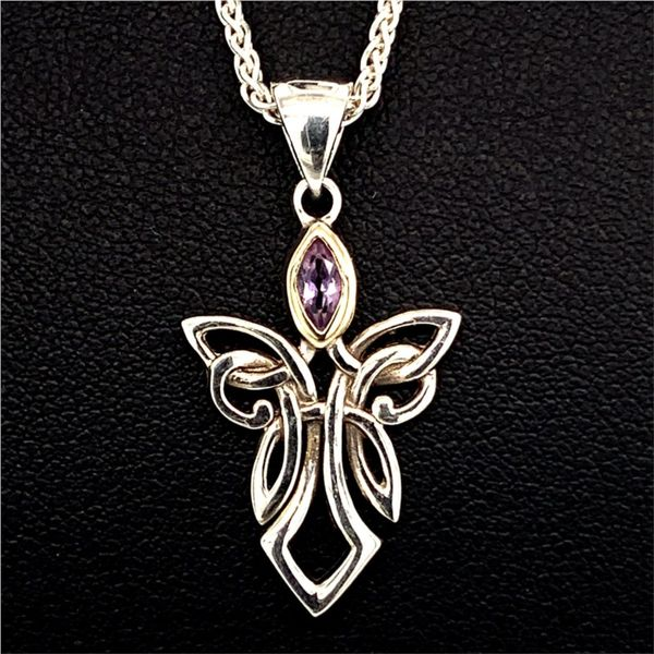 Keith Jack Celtic Angel Pendant, Amethyst Gerald's Jewelry Oak Harbor, WA