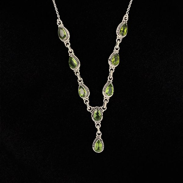 Pear Shaped Peridot and Sterling Silver Necklace Geralds Jewelry Oak Harbor, WA