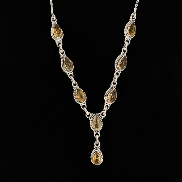 Pear Shaped Citrine and Sterling Silver Necklace Geralds Jewelry Oak Harbor, WA