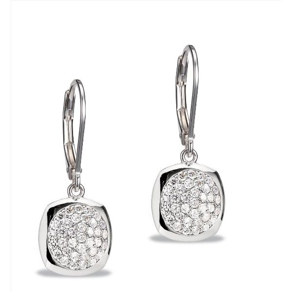 ELLE Micro Pave Cubic Zirconia Lever Back Earrings Gerald's Jewelry Oak Harbor, WA