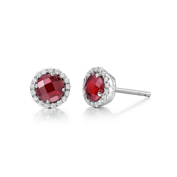 Lafonn Garnet and Lassaire Earrings Geralds Jewelry Oak Harbor, WA
