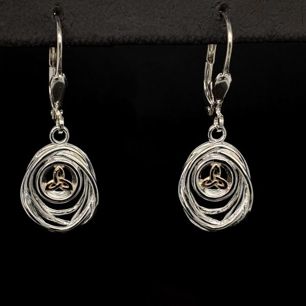 Keith Jack Celtic Cradle Of Life Lever Back Earrings Gerald's Jewelry Oak Harbor, WA
